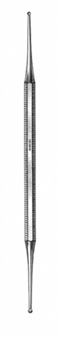 """Curette Excavator Double Ended 1.5mm & 2.0mm Cup with Hole 14cm (5½"""")"""