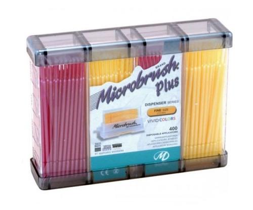 Microbrush Plus Applicators Refill Fine Pink/Yellow 400/pkg