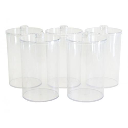 Sundry Jars Plastic Unlabeled Clear 5/Set
