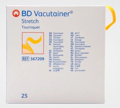 BD Vaccutainer Stretch Tourniquet Latex Free 25/box