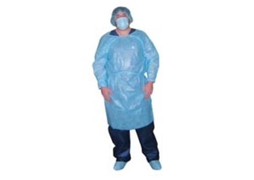 Impervious Isolation Gown, Blue, 10/bag