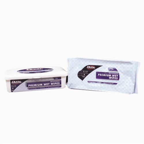 """Dukal Premium Wet Wipes, 9"""" x 13"""", Soft Pack Refill 48/pkg"""