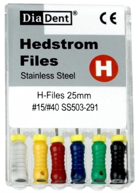 Diadent H-Files SS #35-31mm 6/pkg