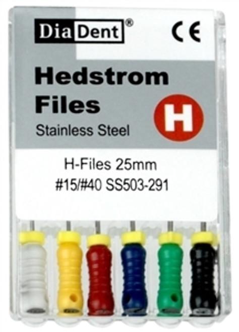 Diadent H-Files SS #45-25mm 6/pkg