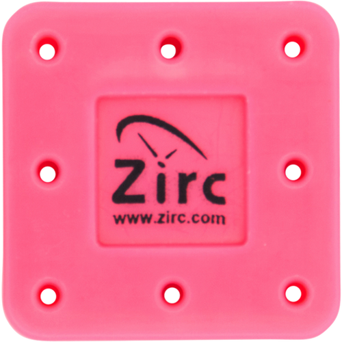 Zirc 8 Hole Magnetic Bur Blocks Neon Pink