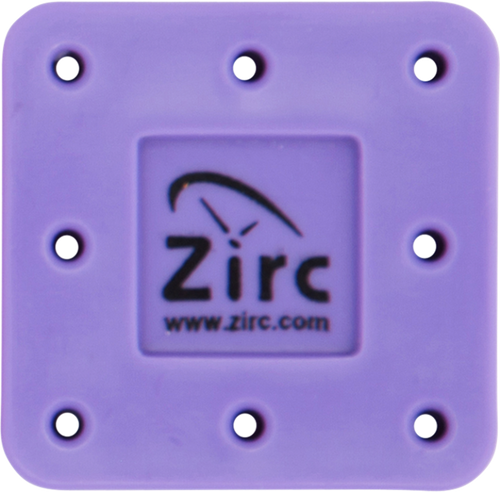 Zirc 8 Hole Magnetic Bur Blocks Neon Purple