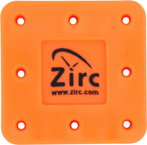 Zirc 8 Hole Magnetic Bur Blocks Neon Orange