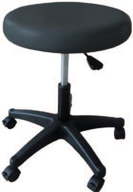 Pneumatic Stool, 5 Leg, Black Upholstery
