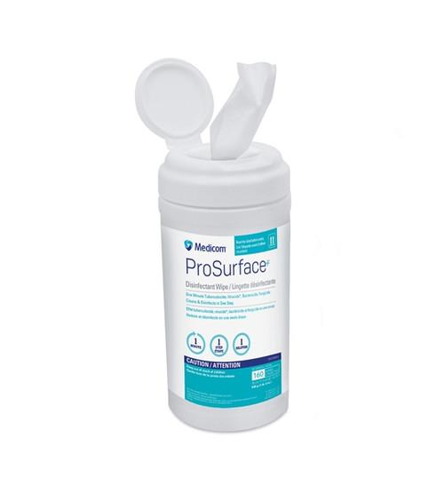 "Medicom ProSurface Disinfectant Wipes 6"" x 6.75"", 160/tub"