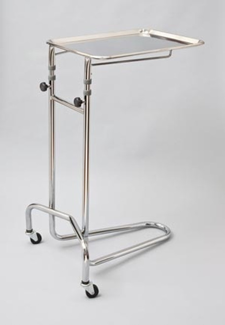 Tech-Med Double Post Mayo Stand with Large Tray