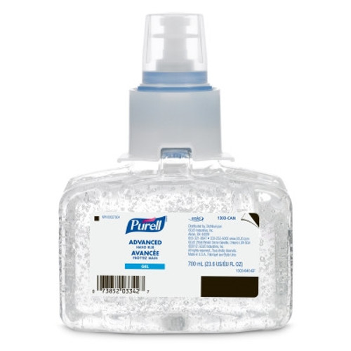 PURELL Advanced Hand Sanitizer Rub, LTX-7 Refill, 700mL, 3/case
