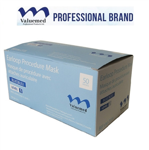Valuemed Professional Earloop Face Mask, Level 1, Blue, 50/box