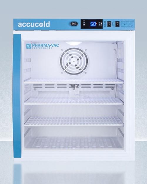 Accucold Pharma-Vac 1 Cu.Ft. Compact Countertop Glass Door Refrigerator