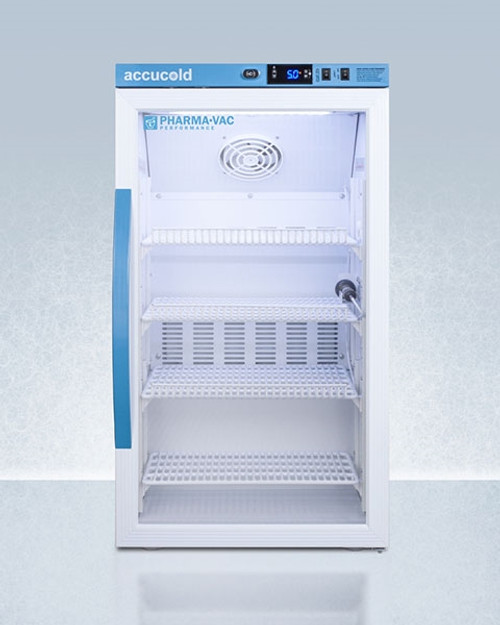 Accucold Pharma-Vac 3 Cu.Ft. Counter Height Glass Door Refrigerator