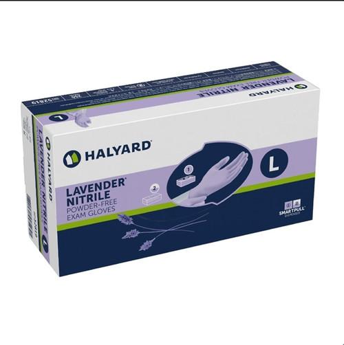 Halyard LAVENDER Nitrile Powder Free Gloves, 230/box, Extra Large