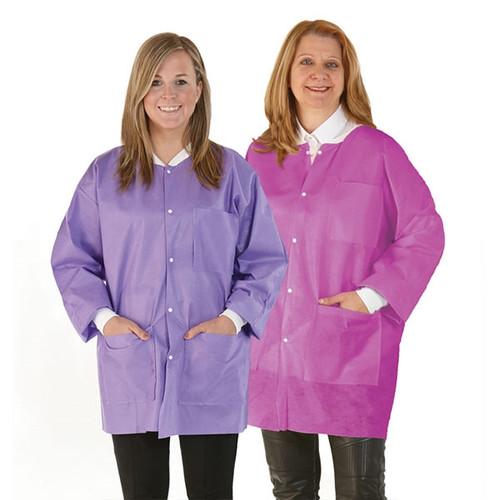 Medicom SafeWear Disposable Hipster Jacket, Soft Blue, Large, 12/bag