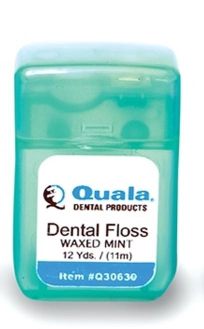 Quala Waxed Mint Floss 12yds, 72/box
