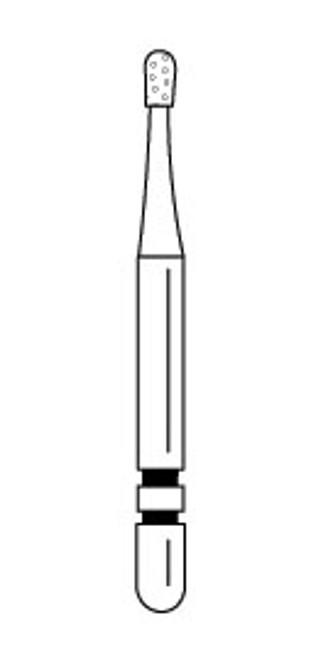 Premier Two-Striper Operative Diamond Bur 330 Pear Medium 5/pkg