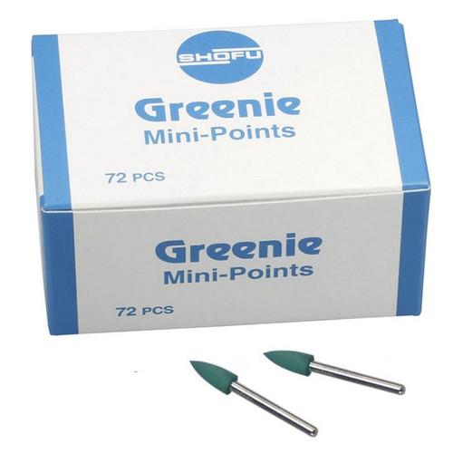 Shofu Greenie Polishers Mini-Point CA 72/box