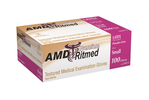 AMD Ritmed Latex Powdered Glove Large 100/box