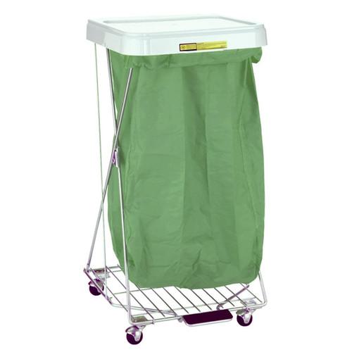 R&B Reusable Nylon Hamper Bag, Grey/Green (Bag Only)