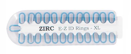 Zirc E-Z ID Rings X-Large Neon Blue 25/pkg