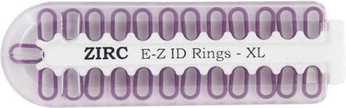 Zirc E-Z ID Rings X-Large 25/pkg, Plum