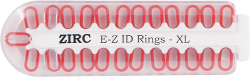 Zirc E-Z ID Rings X-Large 25/pkg, Red