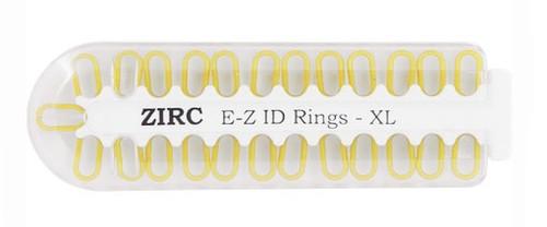 Zirc E-Z ID Rings X-Large Neon Yellow 25/pkg