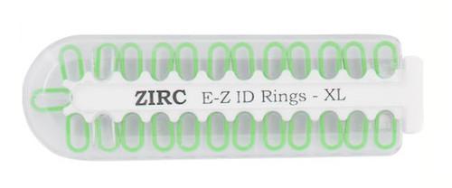 Zirc E-Z ID Rings X-Large Neon Green 25/pkg