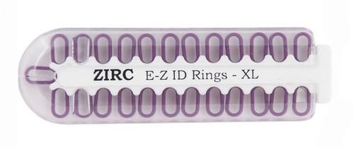 Zirc E-Z ID Rings X-Large 25/pkg, Neon Purple