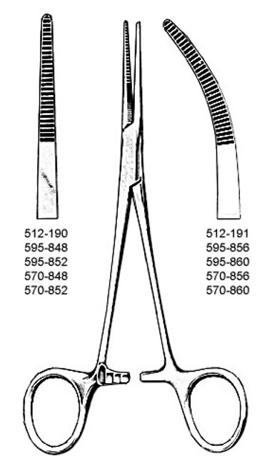 Kelly Forceps, 5 1/2 in. (14 cm), Straight O.R. Quality instrument (made in Germany)