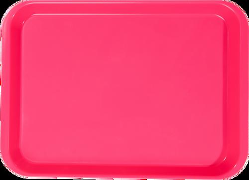 "B-Lok Instrument Flat Tray, Plastic, Ritter Size, 13-3/8"" x 9-5/8"" x 7/8"" -  Neon Pink"