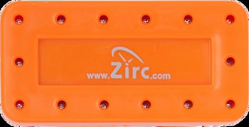 Zirc 14-Hole Magnetic Bur Blocks - Neon Orange