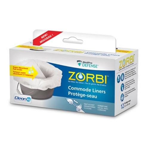 Zorbi Commode Liners 12/box 6box/case