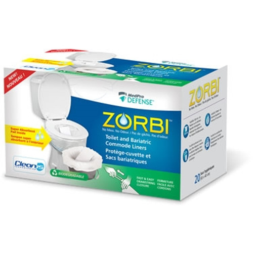 Zorbi Toilet and Bariatric Commode Liners 20/rl 1rl/box 18bx/cs