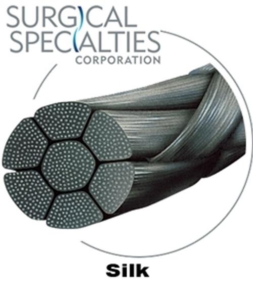 "Look Suture Silk Black Braided 3-0 784B, 18""/45cm, C6, 12/bx"