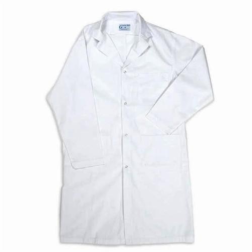 Men's / Unisex Lab Coat, With Snaps - Medium