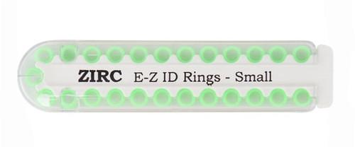 "Zirc E-Z ID Rings Small 1/8"" Neon Green 25/pk"