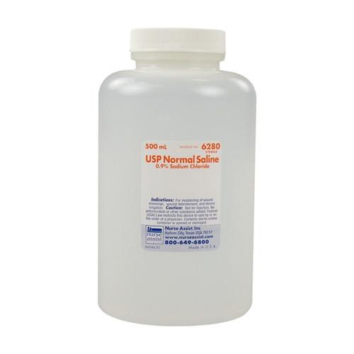 Saline NaCl 0.9% USP, 500ml Bottle