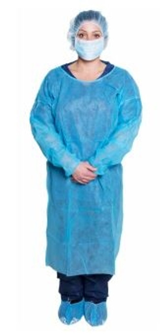 Isolation Gown Blue 10/bag