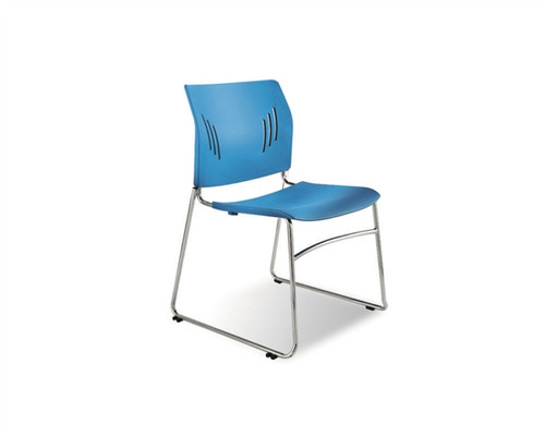 Side Chairs Without Arms Tela Blue