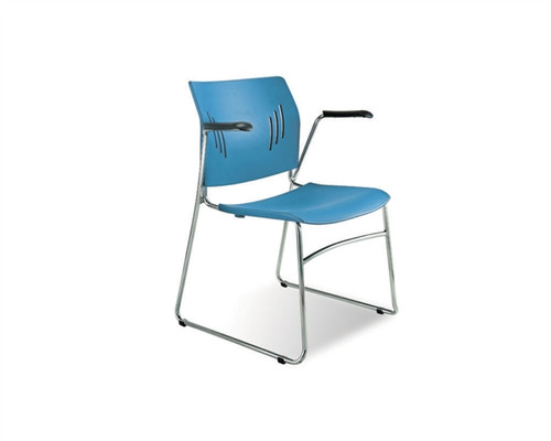 Side Chairs With Arms Tela Blue