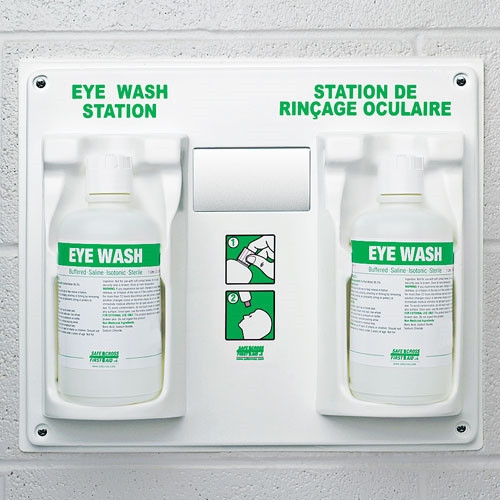 Double Eye Wash Station with Two 1L Bottles of Eyewash