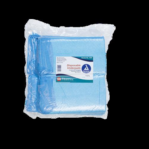 "Dynarex Disposable Underpads 17"" x 24"" (22g) 100/bag"
