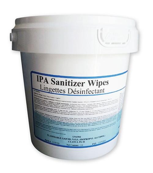 IPA Hard Surface & Hand Sanitizing Wipes 70% Alcohol, 110/tub