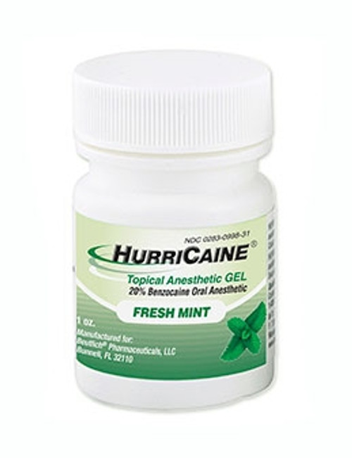 Beutlich Hurricaine Topical Anesthetic Gel Fresh Mint 1oz