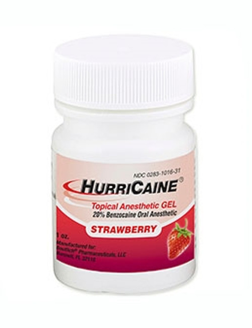 Beutlich Hurricaine Topical Anesthetic Gel Strawberry 1oz