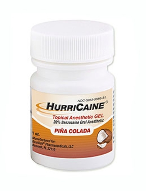 Beutlich Hurricaine Topical Anesthetic Gel Pina Colada 1oz