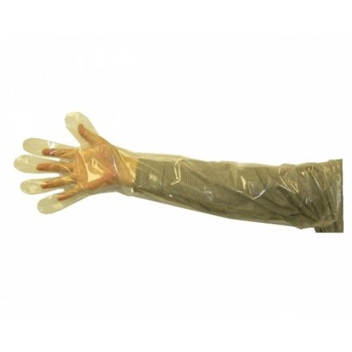 "Arm Length Veterinary Glove 1.25 ML Polyethylene 34"" 1000/case"